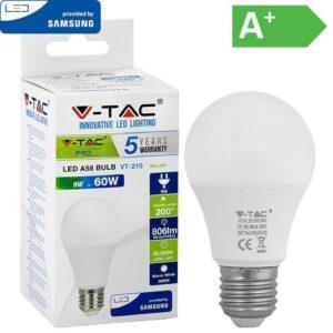 LED-lamppu E27 9W 3000K 806LM A58