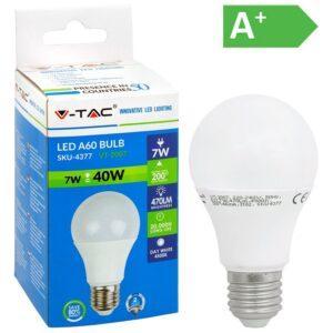 LED-lamppu E27 7W 4500K 470LM A60