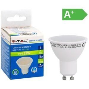 LED-lamppu 3W GU10 3000K 210LM PAR16 V-TAC