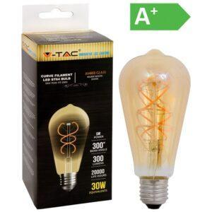 LED-lamppu 5W E27 2200K 300LM ST64 AMBER