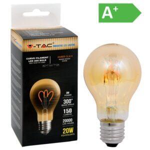 LED-lamppu 3W E27 2200K 150LM A60 AMBER