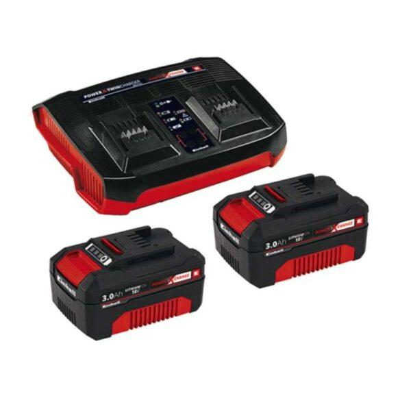 Einhell Starttipakkaus PXC Twin 2 x 18V 3.0Ah akut + tuplalaturi