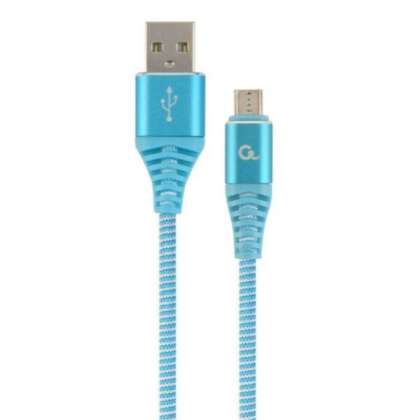 Punottu USB-C kaapeli, 2.0 m, turkoosi, Cablexpert