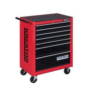 Kreator 348-osainen työkaluvaunu työkaluilla 7 laatikkoa KRT653004