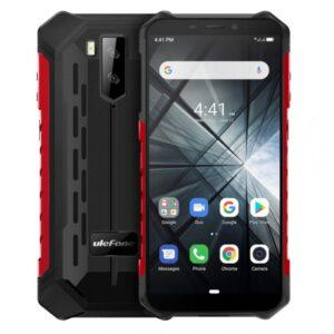 Ulefone Armor X3 Iskunkestävä älypuhelin, mustapunainen