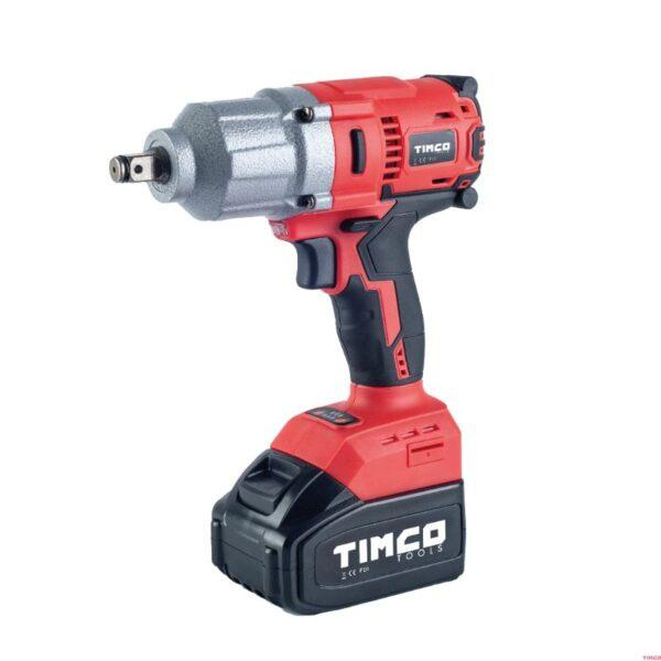 Timco 20V 4Ah 500Nm akkumutterinväännin sis. akut, laturi ja hylsyt