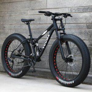 Youma täysjousitettu fatbike 26x4 renkailla musta