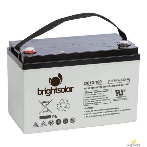 Brightsolar DC12-100 AGM aurinkopaneeli akku, huoltovapaa
