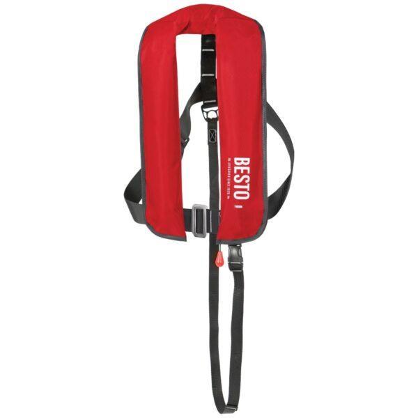 BESTO Lifejacket paukkuliivi 50+, 165N. Automaatti, pikalukolla Punainen