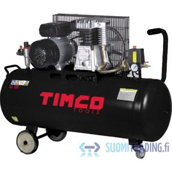 Timco 2,5HP 100L kompressori hihnaveto