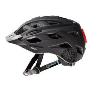 Pyöräilykypärä TIMELESS Fox, musta/harmaa l valo ja säätöpanta