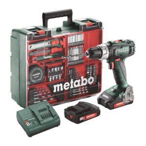 Metabo BS 18L 18V Akkuporakone sis. 2 akkua ja kattava tarvikesarja
