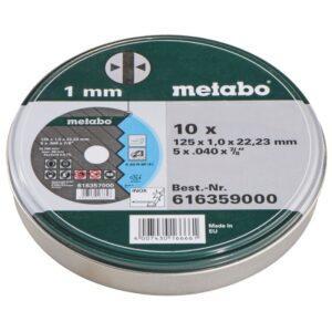Metabo Katkaisulaikka Inox 125x1x22 10 kpl peltilaatikko