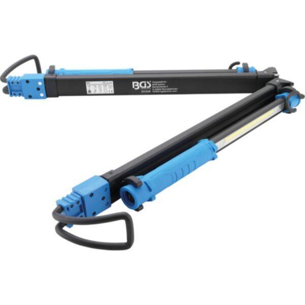 BGS COB-LED-konepeltivalo 1500lm, akku ja laajenninpidike, 2 COB-LED-käsityövaloa
