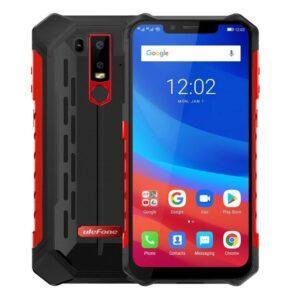 lefone Armor 6S Iskunkestävä IP68 Älypuhelin, 6GB+128GB, musta pun *kamppis*