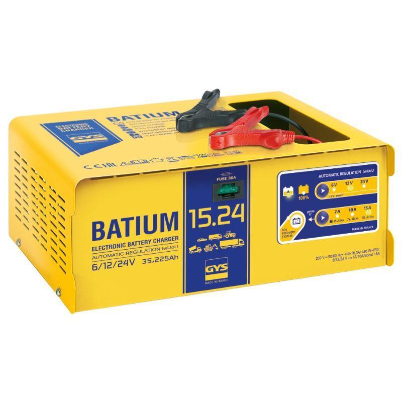 Gys Batium Älykäs akkulaturi 6/12/24V 15A
