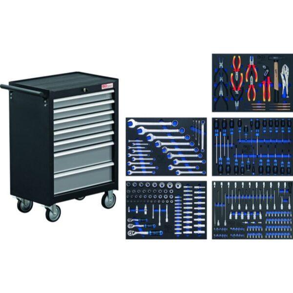 Työkaluvaunu työkaluilla BGS 243 työkalua ja 7 laatikkoa