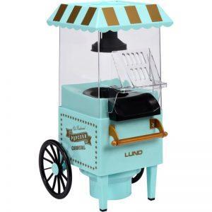 Popcorn-kone carnival kärry, ilman rasvaa, 1200 W, LUND