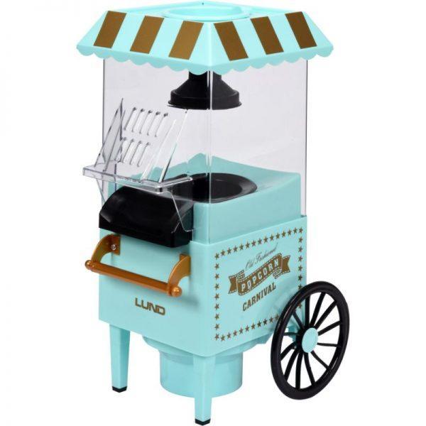 Popcorn-kone, ilman rasvaa, 1200 W, carnival kärry