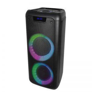 "Denver Bluetooth kaiutin BPS-350NR, 2 x 6,5"" + valot, musta"
