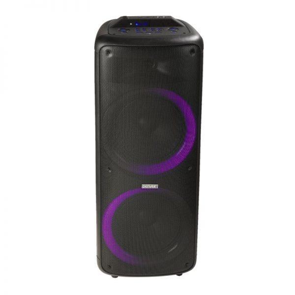 "Denver Bluetooth kaiutin BPS-455, 2 x 10"" + valot, musta"