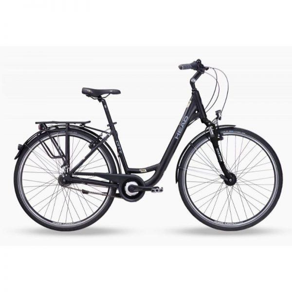 "HEAD City 7G 28"" -naisten polkupyörä, mattamusta, 46cm/18"", jalkajarru"