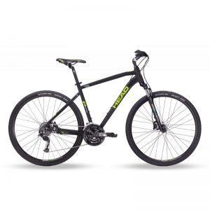 """HEAD I-Peak II 28"""" - miesten crosspyörä, 46 cm, mattamusta/vihreä"""