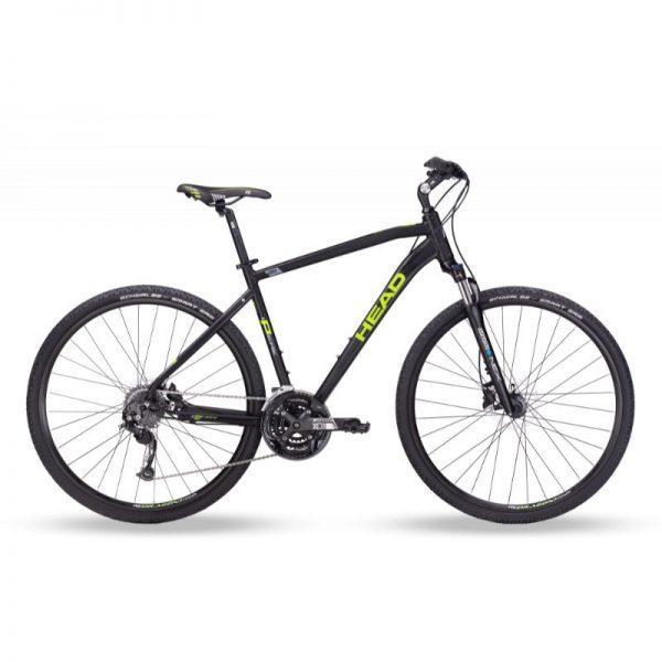 """HEAD I-Peak II 28"""" - miesten crosspyörä, 55 cm, mattamusta/vihreä"""