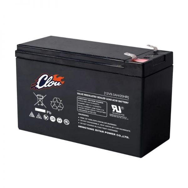 Clou 1290 huoltovapaa AGM akku 9 Ah/12 V F2