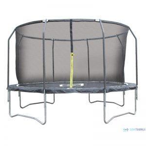 iSport Air Black 4,3m 104 jousta trampoliini turvaverkolla