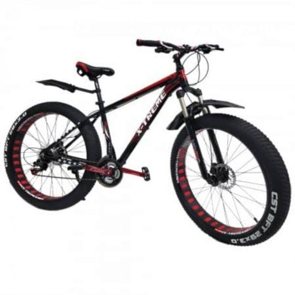 "X-Treme Fatbike 29"" x 3"" renkailla, musta punainen"
